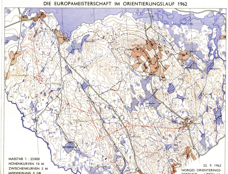 EM 1962: Dameløypa 7,5 km
