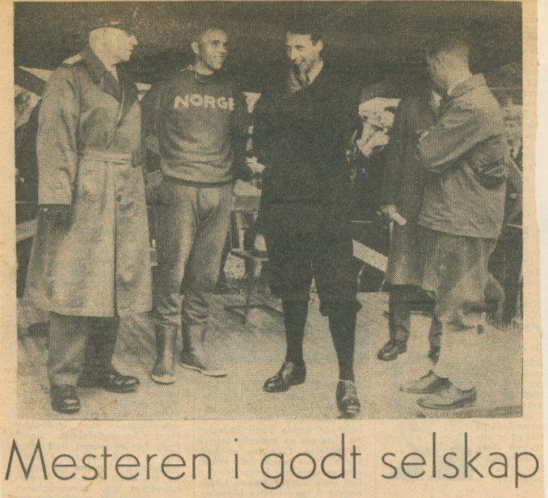 EM 1962: Magne Lystad, Kronprins Harald, m. fl.