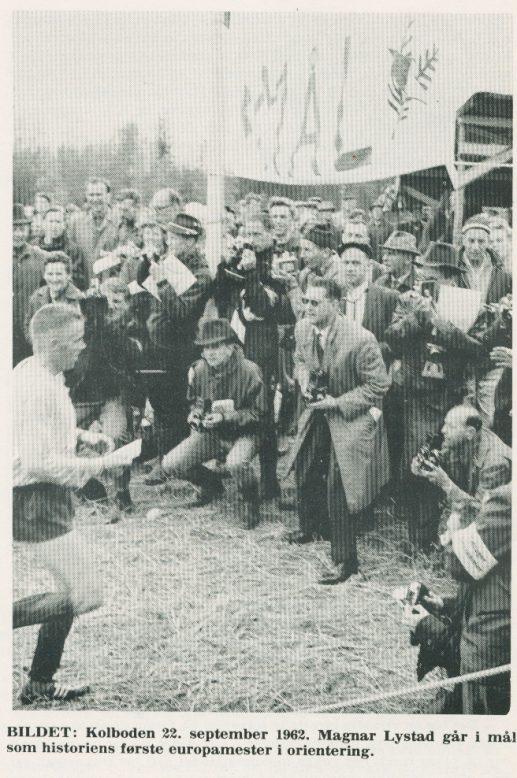 EM 1962: Magne Lystad mot mål