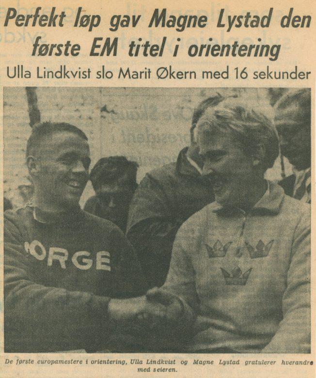 EM 1962 : Vinnerne Magne Lystad og Ulla Lindkvist