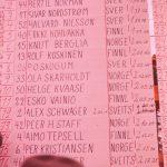 EM 1962: Resultatliste herrer (Foto: Trygve Christensen)