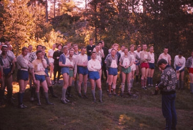 EM 1962: Startfelt stafett herrer (Foto: Trygve Christensen)